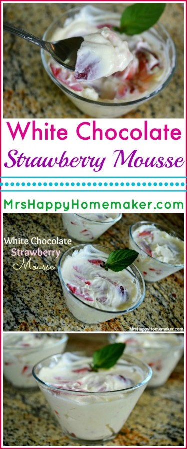 White Chocolate Strawberry Mousse