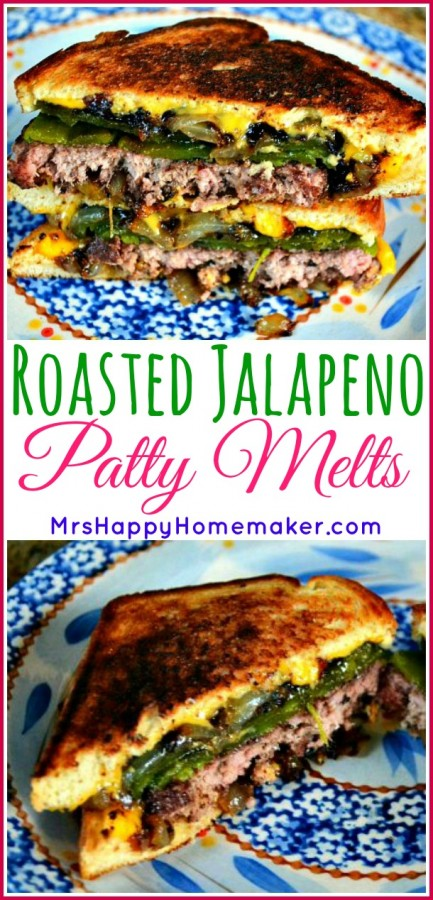 Roasted Jalapeño Patty Melts