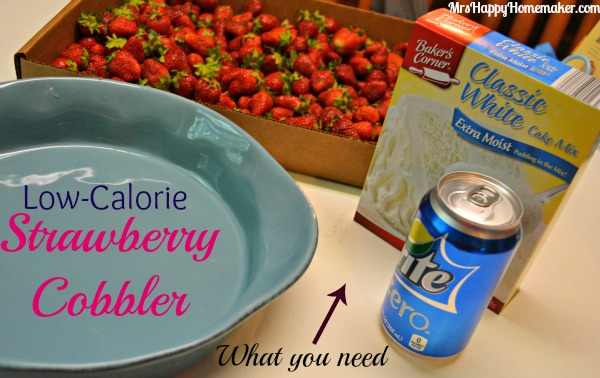 Low Calorie Strawberry Cobbler With A Diet Soda Mrs Happy Homemaker