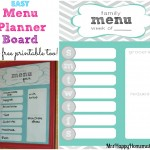 Easy Menu Planner Board - with a free printable!
