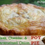 Easy Steak, Cheddar, & Caramelized Onion Pot Pie