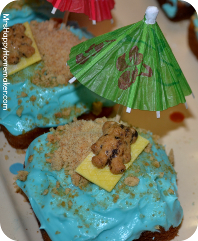 Summer Pool Party Cupcakes