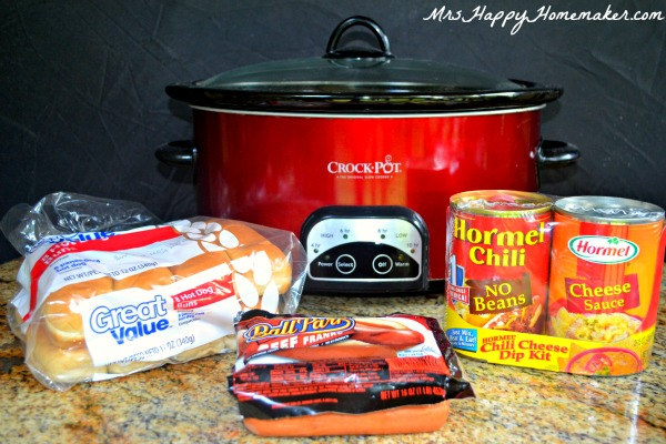 Easy Chili Cheese Hot Dogs