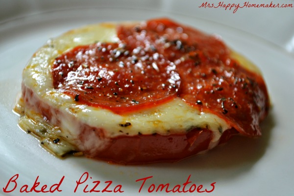 Baked Pizza Tomatoes - crustless pizza