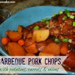Crockpot Barbeque Pork Chops with Potatoes, Carrots, & Onions