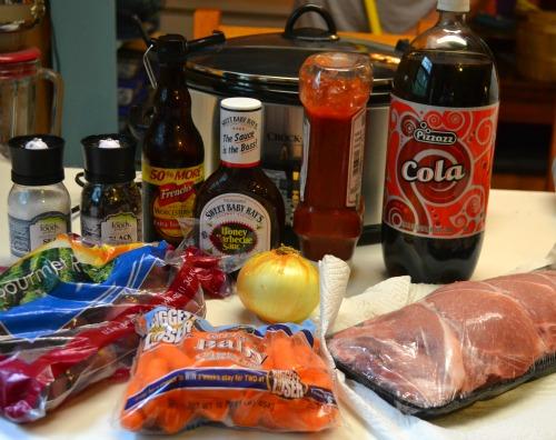 Crockpot Barbeque Pork Chops with Veggies