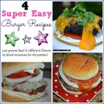 4 Super Easy Burger Recipes