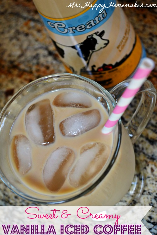 Sweet & Creamy Vanilla Iced Coffee