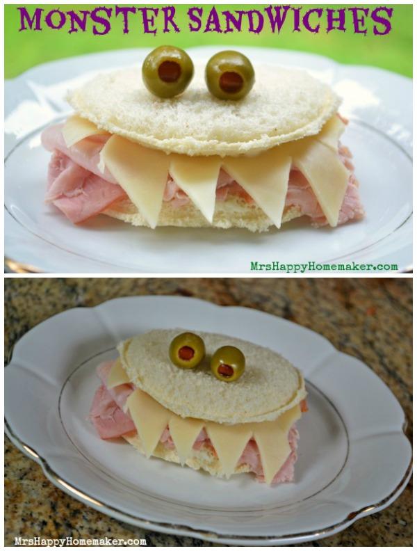 Easy Monster Sandwich - Fun school lunch!