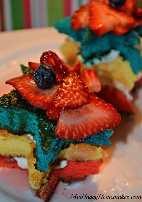 Patriotic Star Cakes