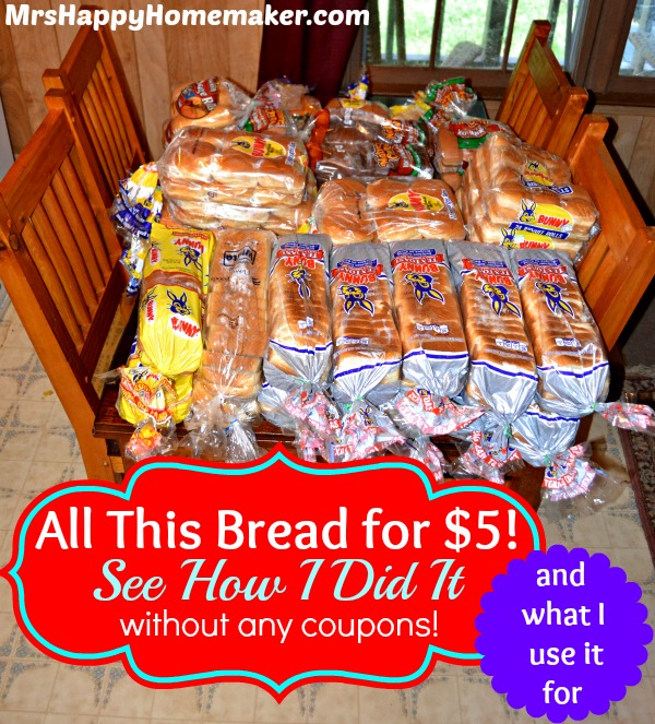 All this bread for $5!  See how I did it, without coupons, and what I use it for!