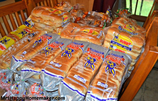 All this bread for $5!  See how I did it, no coupons required- and what I use it for!