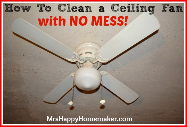 Clean your ceiling fan with a pillowcase no mess how to clean a ceiling fan with no mess aloadofball Image collections
