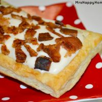 Super Easy Bacon Maple Cream Pastries