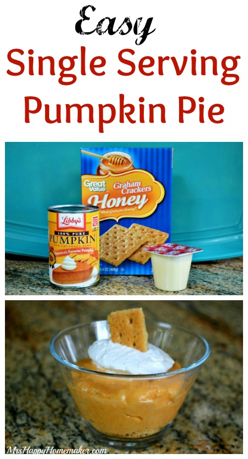 Easy Single Serving Pumpkin Pie
