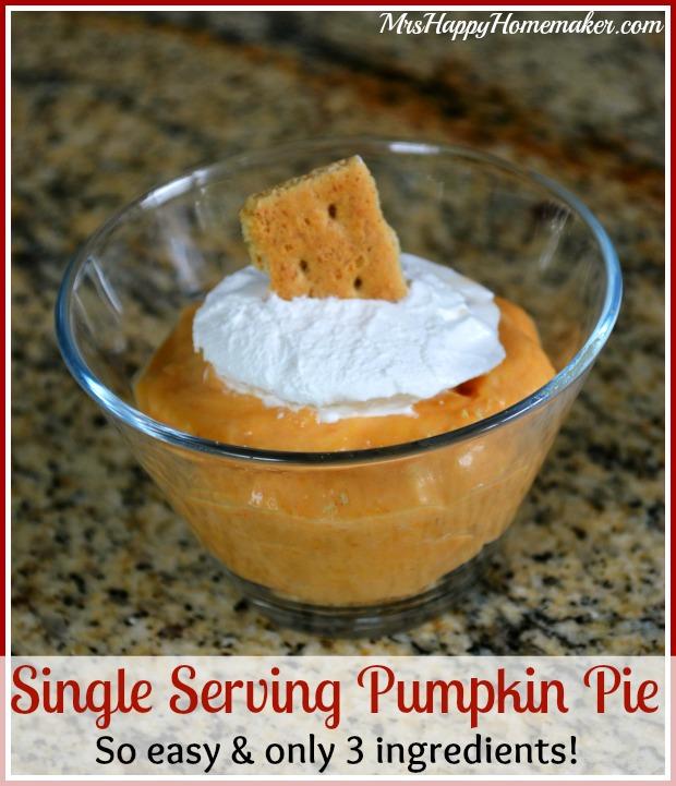 Easy Single Serving Pumpkin Pie