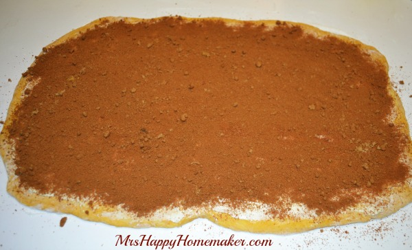 Now, sprinkle on the brown sugar/cinnamon mixture – making sure you ...