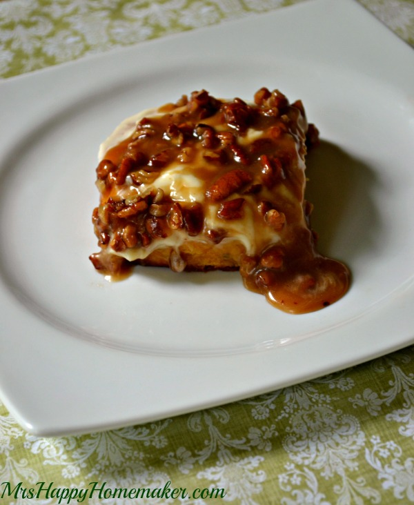 Pumpkin Cinnamon Rolls with Cream Cheese Frosting & Caramel Pecan Glaze