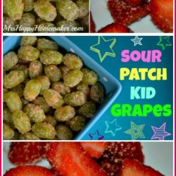 Sour Patch Kid Grapes and Skittles Strawberries