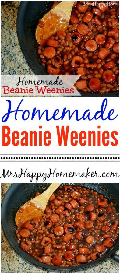 These Homemade Beanie Weenies are absolutely yummy - WAY better than canned beanie weenies too and nearly as simple too!