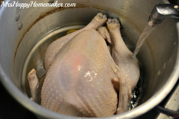 Remove it from the water. Dry the bird inside & out with paper towels.