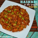Hash Browns in the Waffle Maker from tater tots! (Plus a healthier option!)