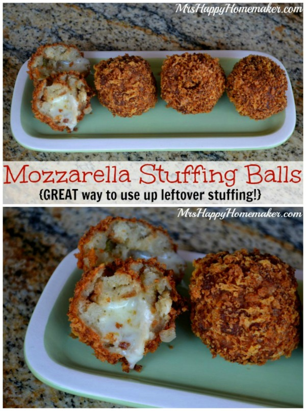 Mozzarella Stuffing Balls - great for leftover stuffing