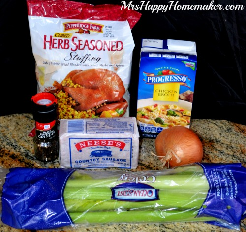 Easy Savory Sausage Stuffing - Mrs Happy Homemaker