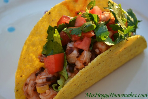 Easy Low-Cal Shrimp Tacos
