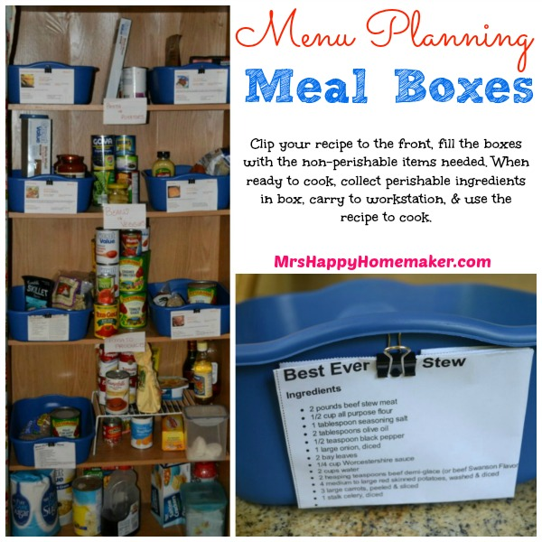 Menu Planning Meal Boxes