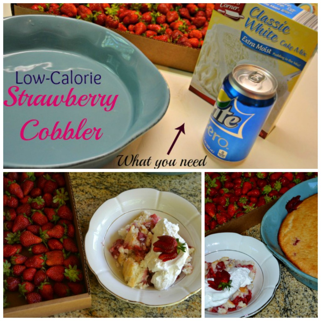 Low Calorie Strawberry Cobbler