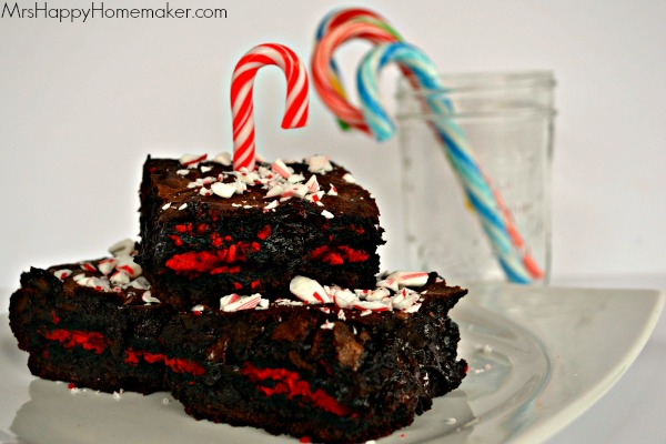 Candy Cane Fudgy Oreo Brownies