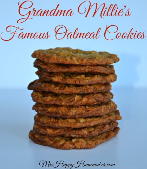 Grandma Millie's Famous Oatmeal Cookies