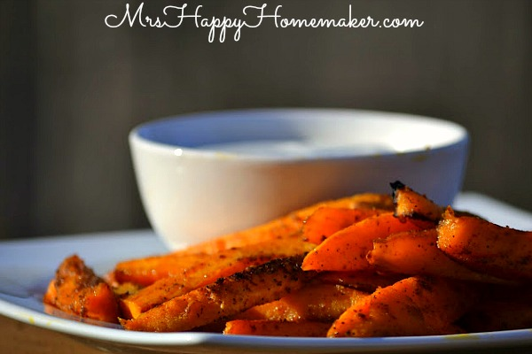 Baked Sweet Potato Fries with Skinny Ranch Dip