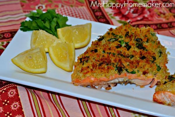 Lemon Panko Crusted Salmon Fillets