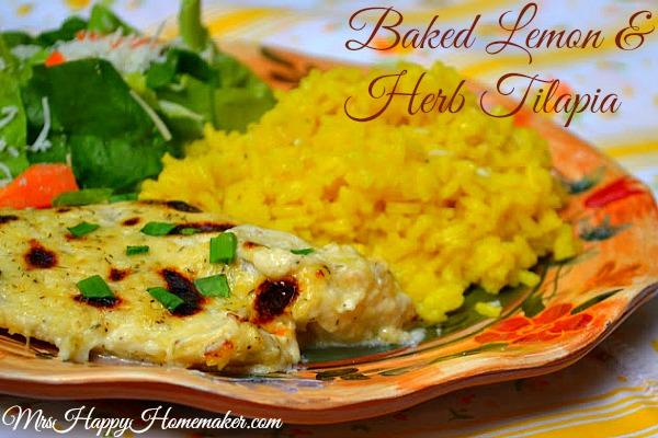 Baked Lemon Herb Tilapia