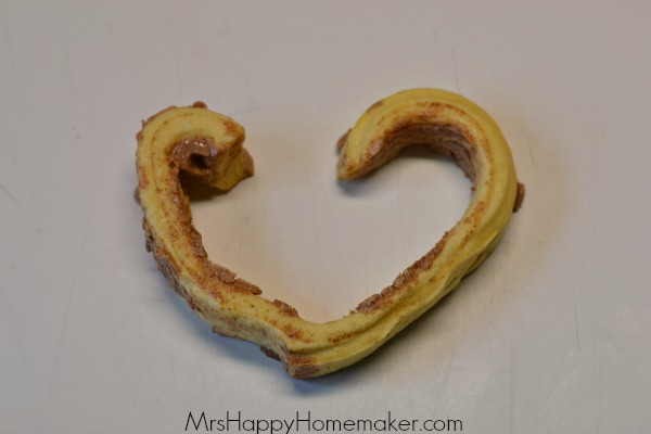 Heart Shaped Cinnamon Rolls