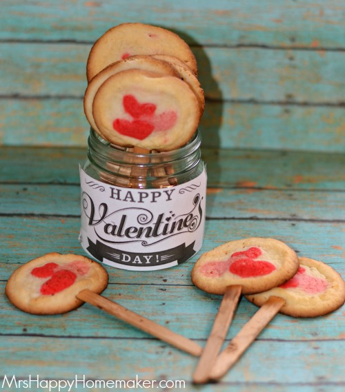 Valentine's Cookie Pops