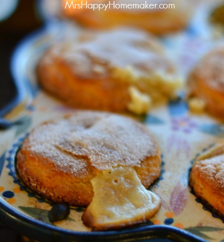 Peaches & Cream Volcano Muffins