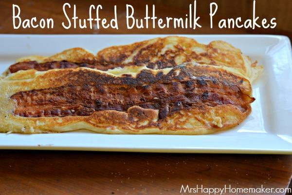 bacon stuffed buttermilk pancakes