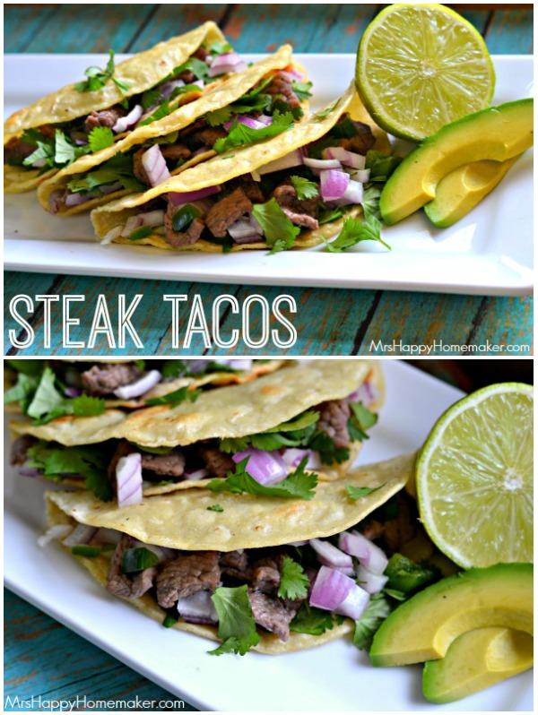 Easy Peasy Steak Tacos