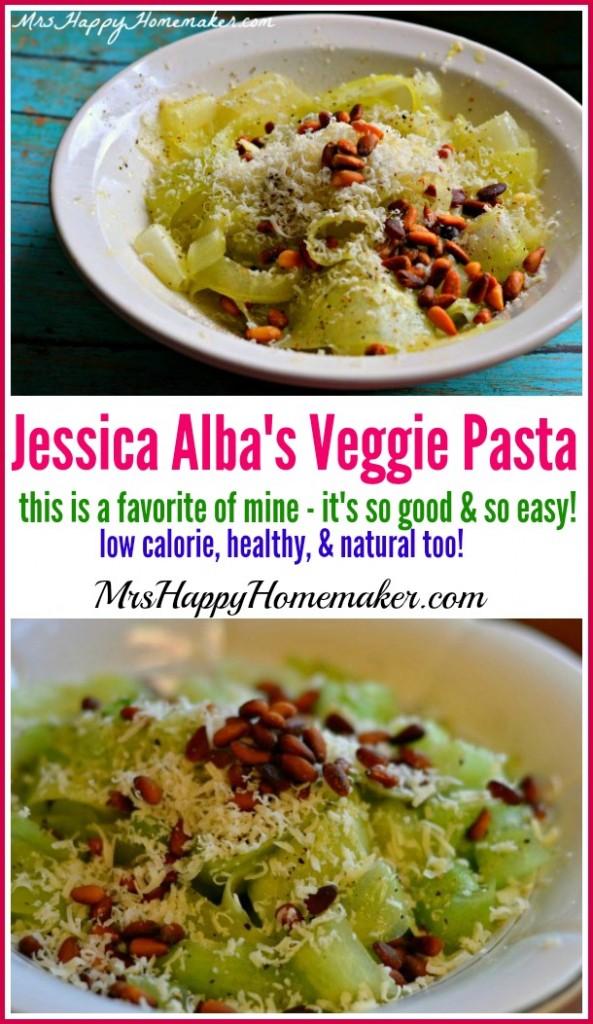 Jessica Alba's Veggie Pasta