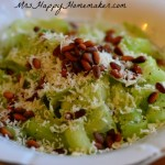 "Cucumber ""Pasta"" Salad with fresh Parmesan, lemon juice, olive oil, & pine nuts - DELICIOUS & HEALTHY!"