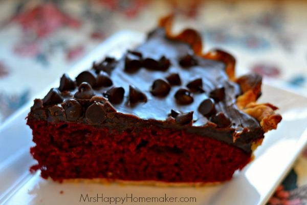Red Velvet Fudge Pie