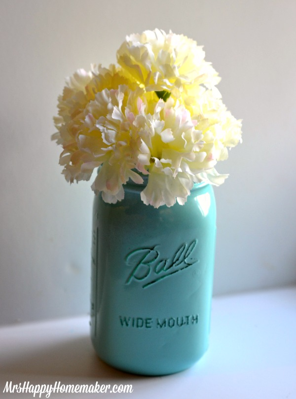 Diy Mason Jar Vases Mrs Happy Homemaker