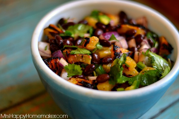 Roasted Pineapple & Black Bean Salsa