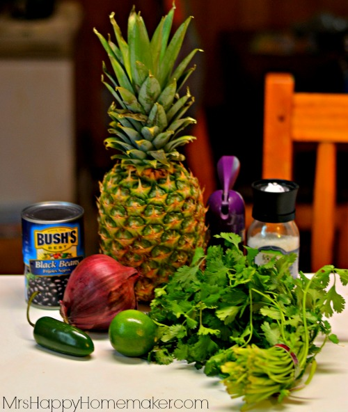 Roasted Pineapple & Black Bean Salsa