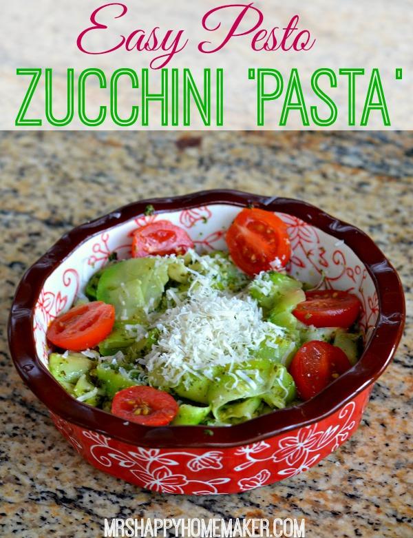 Easy Pesto Zucchini Pasta