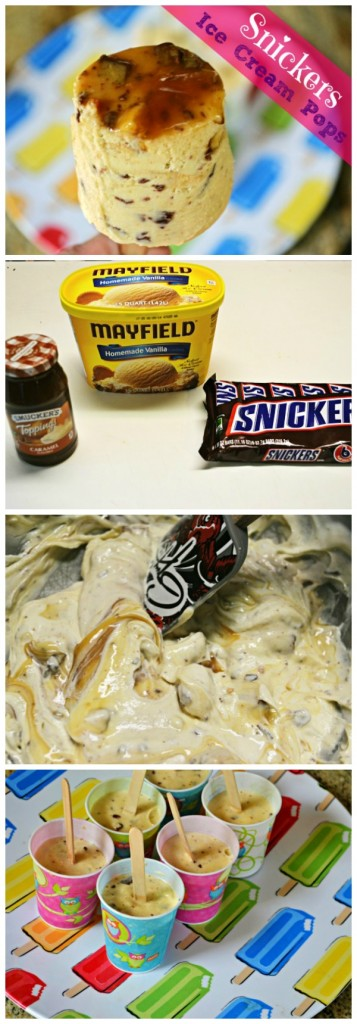 Snickers Ice Cream Pops, just 3 Ingredients!