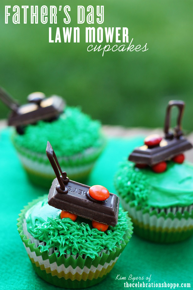 Father's Day Lawn Mower Cupcakes